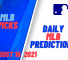USA Wager MLB Predictions   August 16, 2021