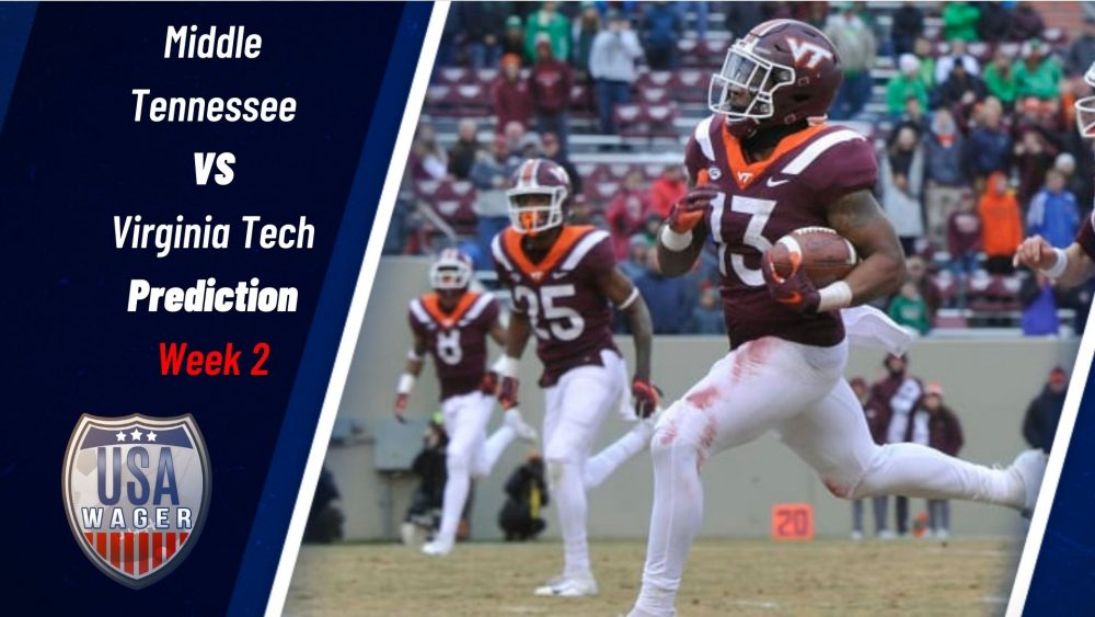 Middle Tennessee vs Virginia Tech Prediction & College Football Odds For Week 2