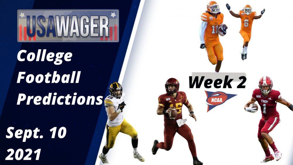USA Wager College Football Predictions | Week 2 | September 9, 2021